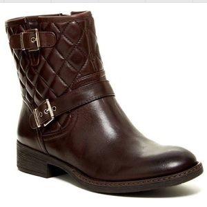 Arturo Chiang Black Moto Short Boots